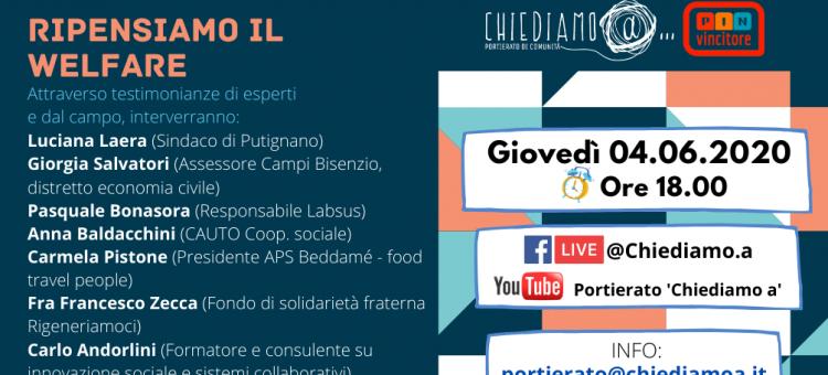 Copertina del post Ripensiamo al welfare: l'evento digitale di Chiediamo a…