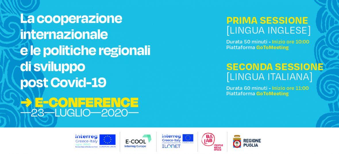 Copertina del post Cooperazione internazionale e politiche regionali post Covid: una E-confere