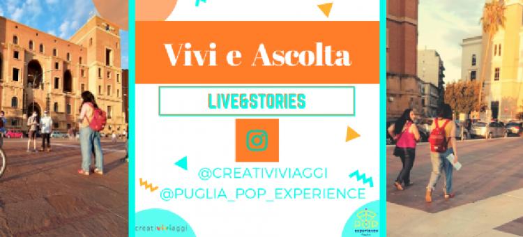 Copertina del post Vivi e Ascolta LIVE: le dirette Instagram per rigenerare il turismo di Pugl