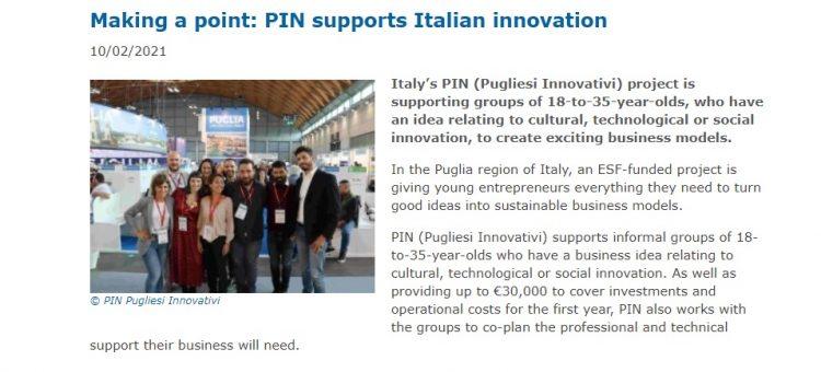 Copertina del post Success story FSE: in Italia c'è PIN!